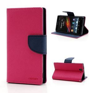 Mr. Goos peněženkové pouzdro na Sony Xperia Z - rose - 1
