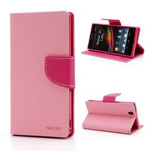 Mr. Goos peněženkové pouzdro na Sony Xperia Z - růžové - 1
