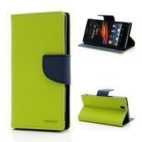 Mr. Goos peněženkové pouzdro na Sony Xperia Z - zelené - 1/6