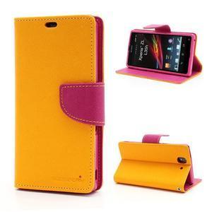 Mr. Goos peněženkové pouzdro na Sony Xperia Z - žluté - 1