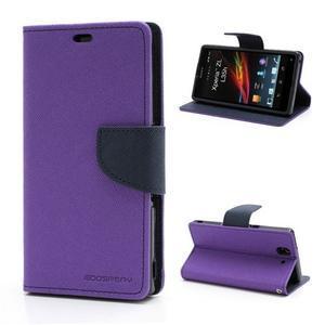 Mr. Goos peněženkové pouzdro na Sony Xperia Z - fialové - 1