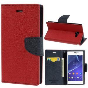 Mr. Goos peněženkové pouzdro na Sony Xperia M2 - červené - 1