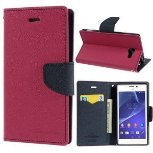 Mr. Goos peněženkové pouzdro na Sony Xperia M2 - rose - 1
