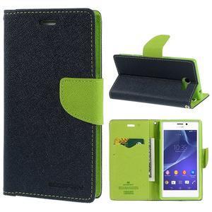 Mr. Goos peněženkové pouzdro na Sony Xperia M2 - tmavěmodré - 1