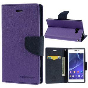 Mr. Goos peněženkové pouzdro na Sony Xperia M2 - fialové - 1