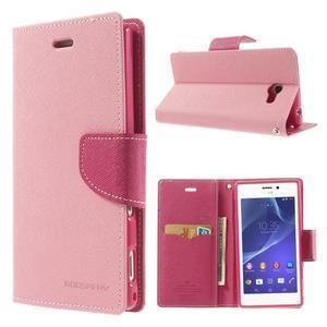Mr. Goos peněženkové pouzdro na Sony Xperia M2 - růžové - 1