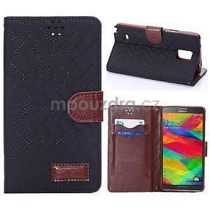 Elegantní penženkové pouzdro na Samsung Galaxy Note 4 - černé - 1