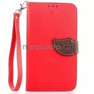 Peněženkové pouzdro s poutkem na Samsung Galaxy Note 4 - červené - 1