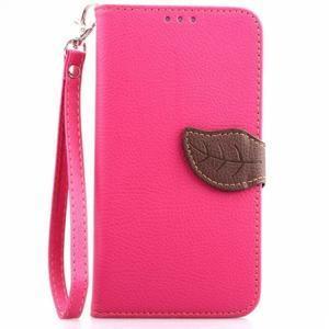 Peněženkové pouzdro s poutkem na Samsung Galaxy Note 4 - rose - 1