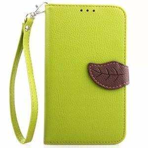 Peněženkové pouzdro s poutkem na Samsung Galaxy Note 4 - zelené - 1
