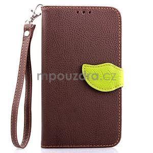Peněženkové pouzdro s poutkem na Samsung Galaxy Note 4 - hnědé - 1