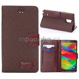 Elegantní penženkové pouzdro na Samsung Galaxy Note 4 - hnědé - 1