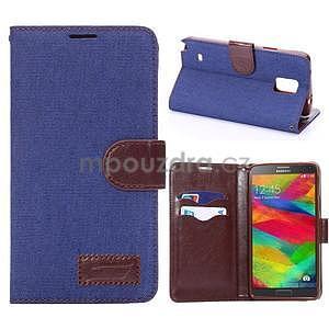 Jeans peněženkové pouzdro pro Samsung Galaxy Note 4 - modré - 1