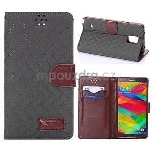 Elegantní penženkové pouzdro na Samsung Galaxy Note 4 - šedé - 1