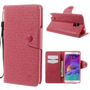 Zapínací peněženkové poudzro Samsung Galaxy Note 4 - rose - 1