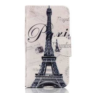 Rich PU kožené pouzdro na mobil Samsung Galaxy A3 (2016) - Eiffelova věž - 1