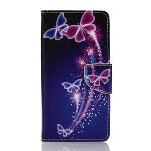 Rich PU kožené pouzdro na mobil Samsung Galaxy A3 (2016) - kouzelní motýlci - 1