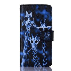 Standy peněženkové pouzdro na Samsung Galaxy Core Prime - žirafí mafie - 1