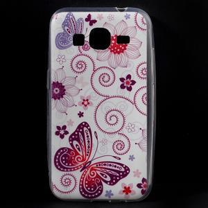 Ultratenký slim obal na Samsung Galaxy Core Prime - motýlek - 1