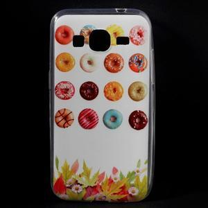 Ultratenký slim obal na Samsung Galaxy Core Prime - donuts - 1