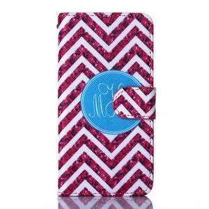 Standy peněženkové pouzdro na Samsung Galaxy Core Prime - červený vzor - 1