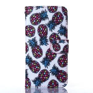 Standy peněženkové pouzdro na Samsung Galaxy Core Prime - ananasy - 1