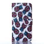 Standy peněženkové pouzdro na Samsung Galaxy Core Prime - ananasy - 1/5