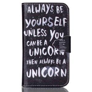 Emotive peněženkové pouzdro na Samsung Galaxy Core Prime - unicorn - 1