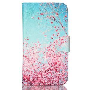 Emotive peněženkové pouzdro na Samsung Galaxy Core Prime - kvetoucí švestka - 1