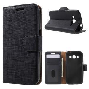 Clothy peněženkové pouzdro na Samsung Galaxy Core Prime - černé - 1