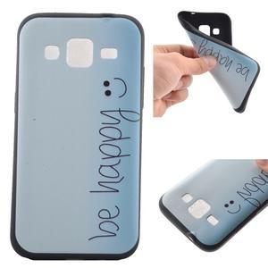 Hardy gelový obal na mobil Samsung Galaxy Core Prime - be happy - 1