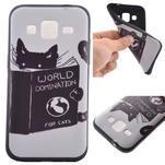 Hardy gelový obal na mobil Samsung Galaxy Core Prime - kočička čte - 1/6