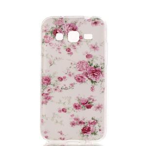 Softy gelový obal Samsung Galaxy Core Prime - květiny - 1