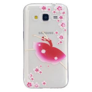 Transparentní gelový obal na Samsung Galaxy Core Prime - květinová dívka - 1