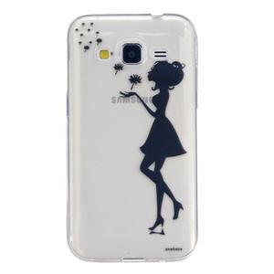 Transparentní gelový obal na Samsung Galaxy Core Prime - dívka pampelišek - 1