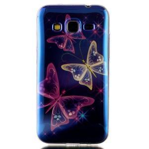 Bluray gelový obal s odlesky na Samsung Galaxy Core Prime - kouzelní motýlci - 1