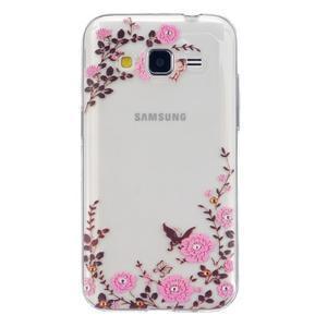 Transparentní gelový obal na Samsung Galaxy Core Prime - květiny - 1
