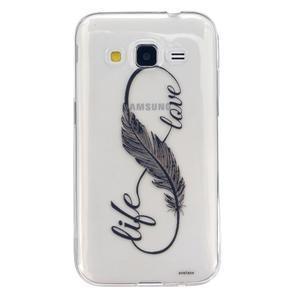 Transparentní gelový obal na Samsung Galaxy Core Prime - love - 1