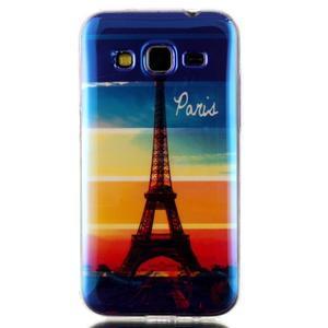 Bluray gelový obal s odlesky na Samsung Galaxy Core Prime - Eiffelova věž - 1