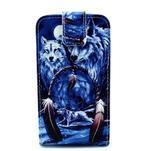 Flipové pouzdro na mobil Samsung Galaxy Core Prime - magičtí vlci - 1/7