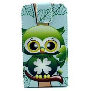 Flipové pouzdro na mobil Samsung Galaxy Core Prime - sovička - 1