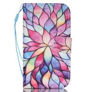 Pictu pouzdro na mobil Samsung Galaxy Core Prime - malované květy - 1
