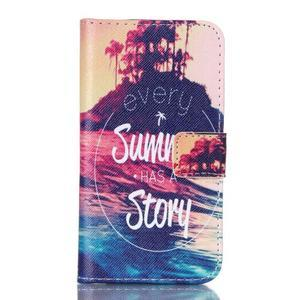 Knížkové pouzdro na Samsung Galaxy Core Prime - letní story - 1