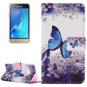 Emotive koženkové pouzdro na Samsung Galaxy J1 (2016) - motýlek - 1