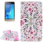 Emotive koženkové pouzdro na Samsung Galaxy J1 (2016) - květiny - 1/5
