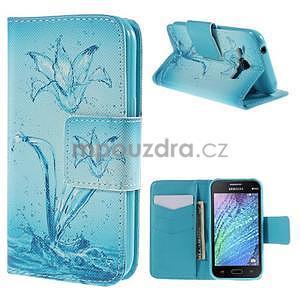 Zapínací pouzdro pro Samsung Galaxy J1 - vodní květina - 1