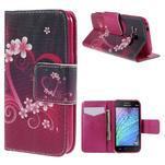 Zapínací pouzdro pro Samsung Galaxy J1 - květinové srdce - 1/7