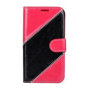 Peněženkové pouzdro Diagonal na Samsung Galaxy J1 - rose/černé - 1