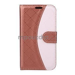 Elegantní pouzdro na Samsung Galaxy J1 - hnědé - 1