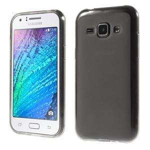 Matný gelový obal na Samsung Galaxy J1 - šedý - 1